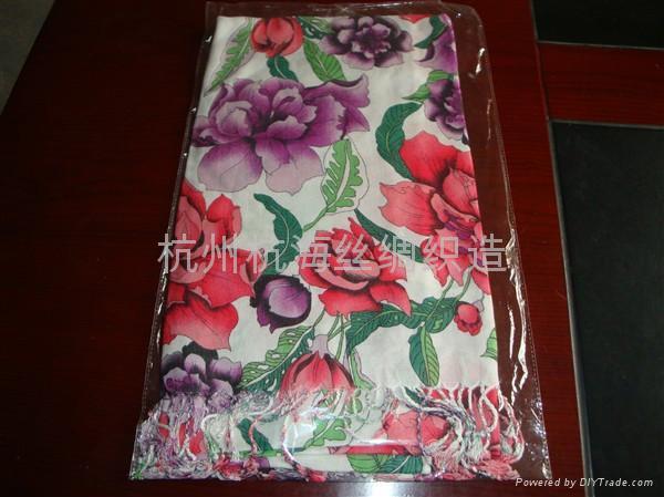 10年日韓   花紋女士圍巾 1
