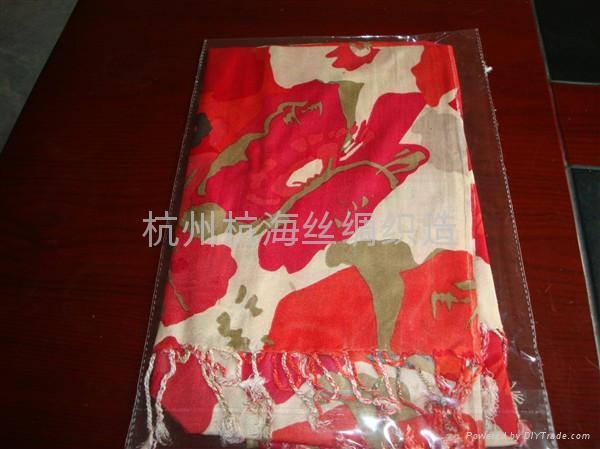 10年日韓   花紋女士圍巾 2