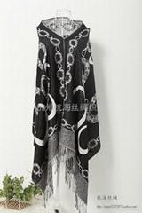 时尚女士羊毛围巾,羊绒披肩