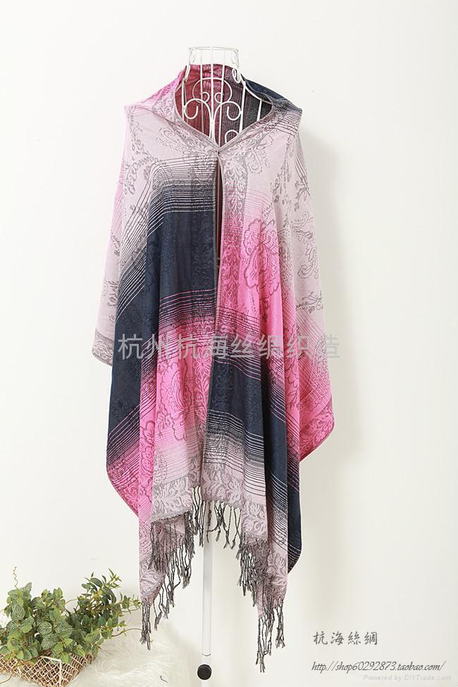 時尚女士羊毛圍巾,仿羊絨圍巾披肩 1