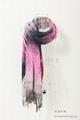 時尚女士羊毛圍巾,仿羊絨圍巾披肩 2