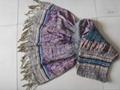 時尚女士羊毛圍巾,羊絨真絲圍巾