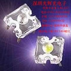 优势5mm白光食人鱼LED