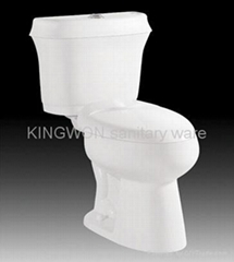 Two Pieces Ceramics Toilet Sanitary Ware (KW2030)