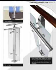 Glass door stainless steel railings