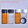 screw-neck glass vials