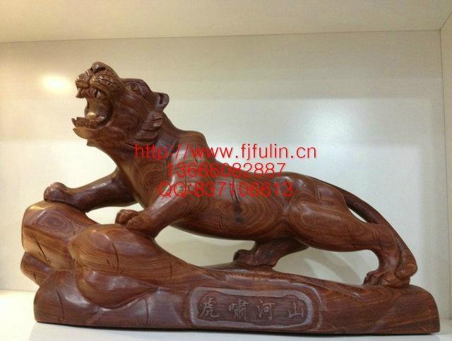 东阳木雕关公佛像; 木雕动物; 木雕老虎