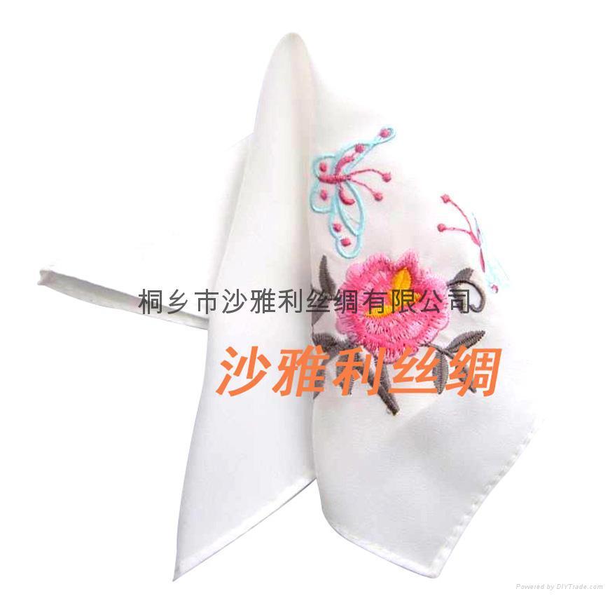 中國甦繡 絲綢手帕 2