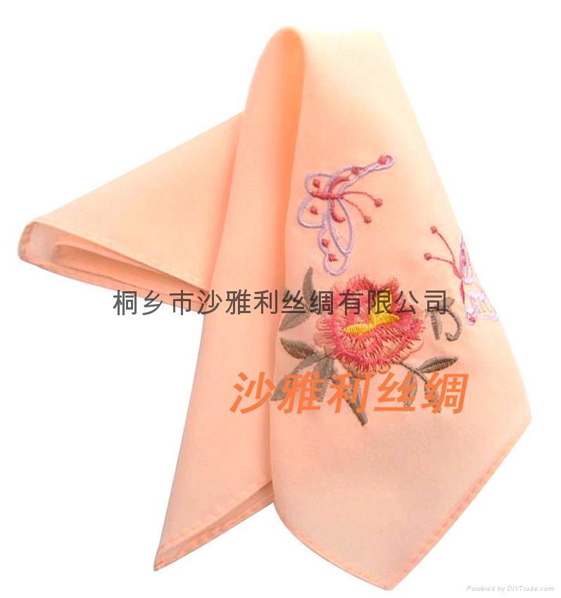 中國甦繡 絲綢手帕 5