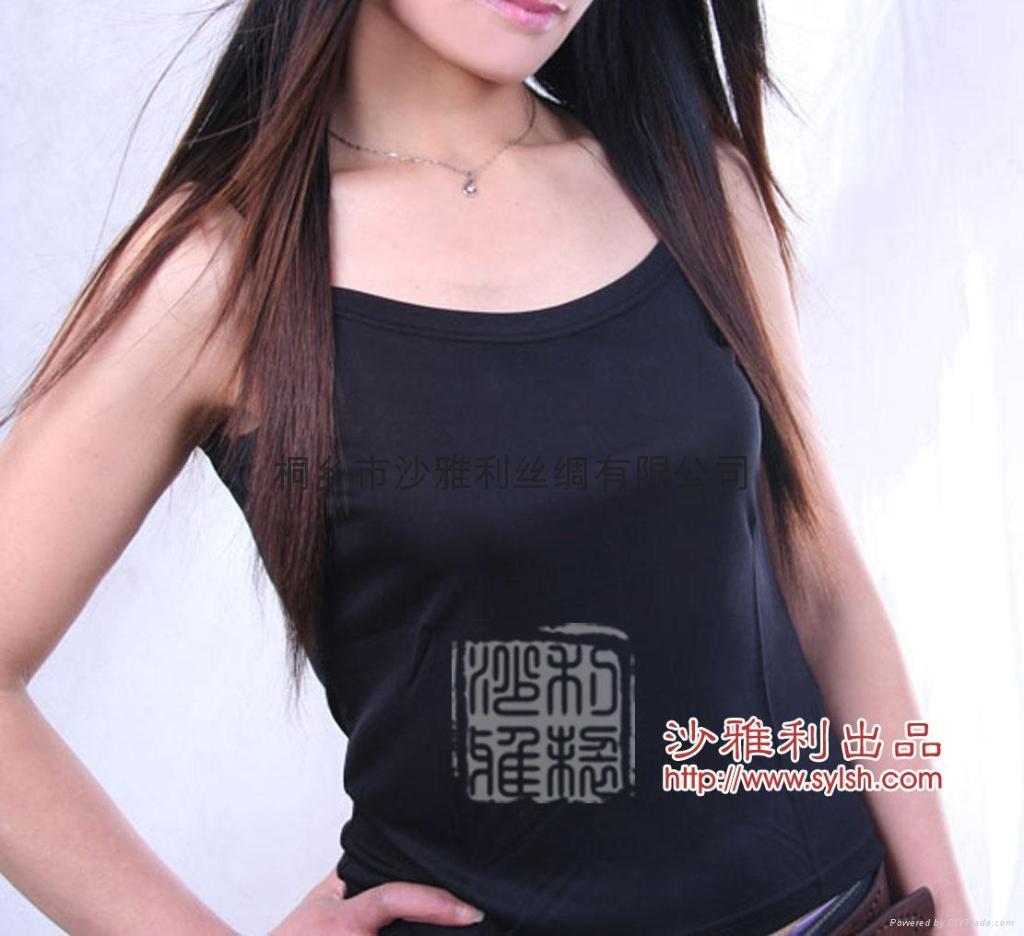 真丝针织吊带衬衫 2