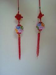 手工编织珠子中国传统造型车内挂饰
