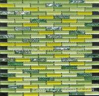 Plating Crystal Glass mosaic green mix