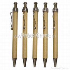 Kraft Paper Ball Pen,recycle pen,eco-friendly pen,eco pen,promotion pen