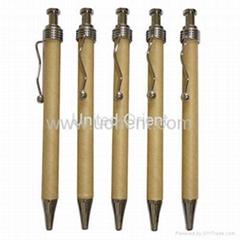 Kraft Paper Ball Pen,recycle pen,eco-friendly pen,eco pen,promotion pen