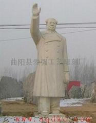 現貨漢白玉毛主席雕像