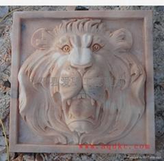 壁挂喷水狮子头
