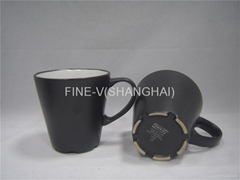 Ceramic matte black coffee mug