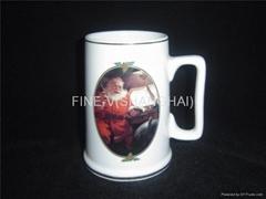 Porcelain beer mug and cup