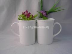 Bone china coffee cup and mug