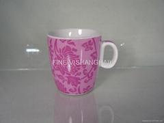 Porcelain mug with full printing