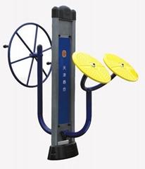 arm wheel kneading and pushing machine