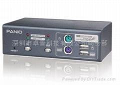 2口PS/2+USB混合KVM切換器