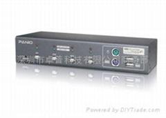 4口USB+PS/2混合KVM切換器