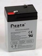 emergency light battery 6v4.5ah (ISO,CE,UL,ROHS,REACH)
