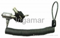 Heavy duty key type Notebook coil cable