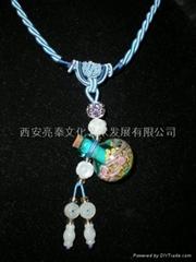 Lazurite Aroma Bottle Necklace gift (C)