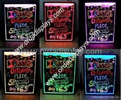full rgb color  led menu board writing board