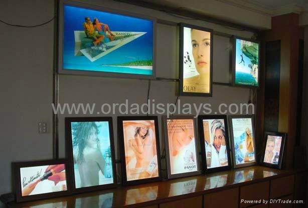 Slimline Led Poster Frame Light Box Snap Open Sf28