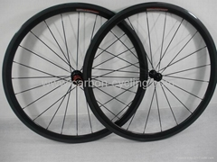 38mm full carbon fiber wheelset, clincher wheel, FSC38-C