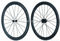 In stock, Carbon fiber bicycle wheels 50mm clincher wheelset, FSC50-C
