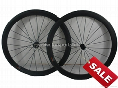 August Special! carbon road bicycle wheel,50mm clincher wheelset, FSC50-C