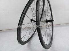 Carbon fiber bicycle wheels 38mm tubular wheelset, FSC38-TM