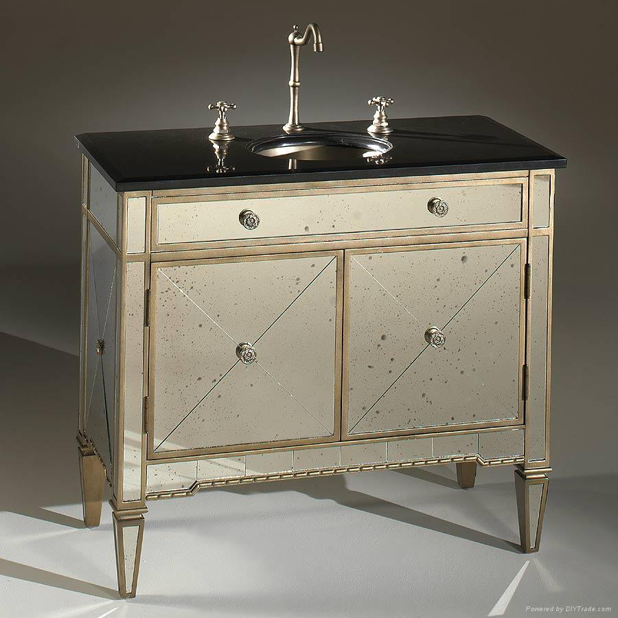 Antique Mirrored Vanity - Antique Mirrored Vanity Antique Furniture