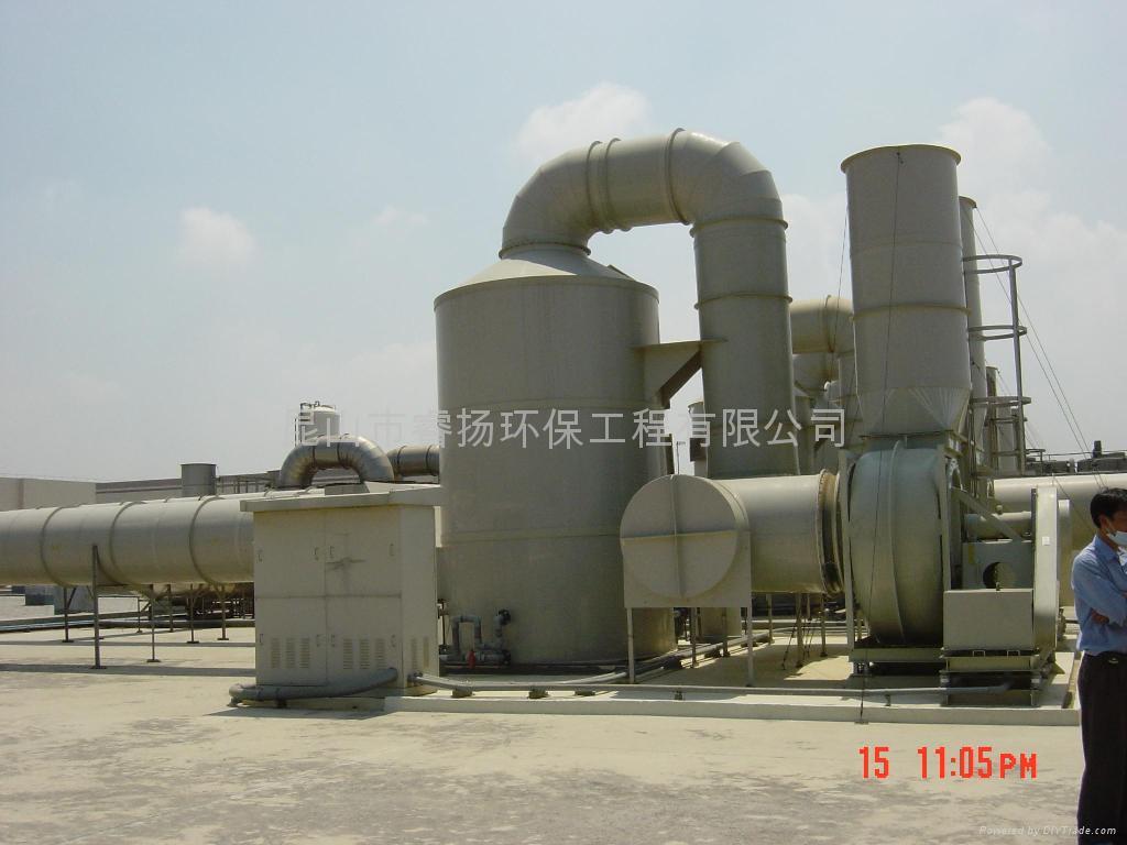 酸碱废气洗涤塔抽风工程