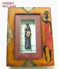 Figurines in shadow box