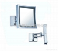 Wall square LED light mirror
