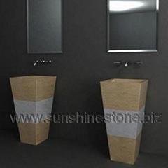 Stone pedestal sink/washbasin 73