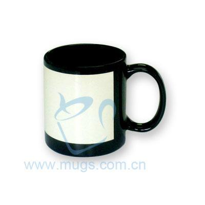 Sublimation Mug-Black Coated Mug with Printable Area
