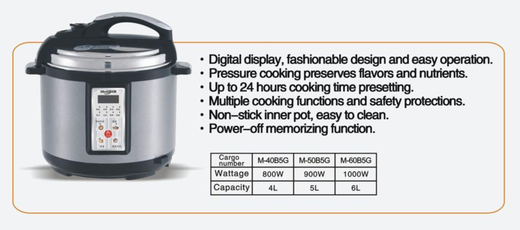 Electric pressure cooker B5G 2