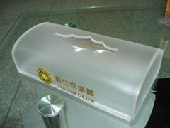有机玻璃(压加力)纸巾盒