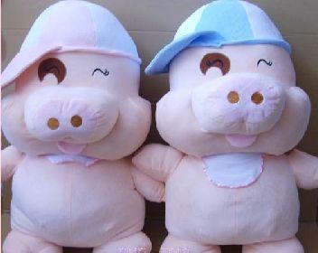 济南抱抱吧毛绒玩具情侣麦兜猪 1