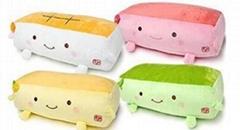 毛絨玩具枕頭正品日本豆腐理療按摩枕