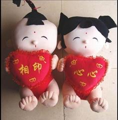 毛絨玩具結婚禮品娃娃