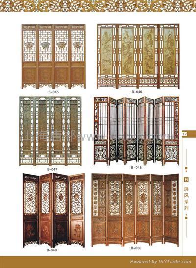 上海实木仿古门窗花格屏风隔断