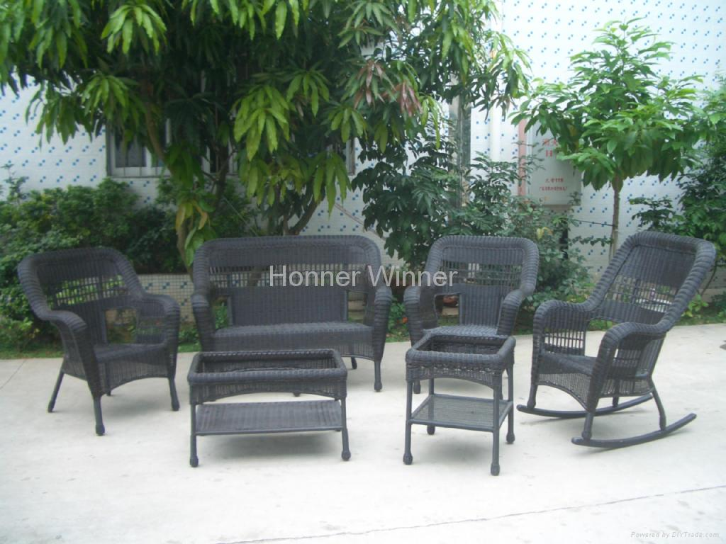 Hw881 Outdoor Leisure Rattan Furniture Set Honor Winner China Manufacturer Outdoor