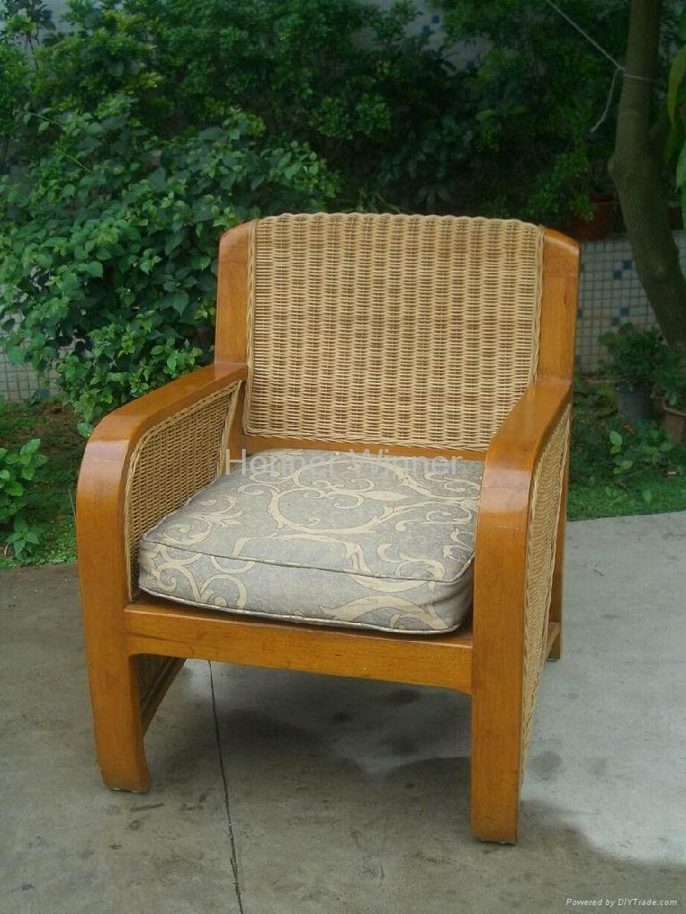 wood and rattan furniture